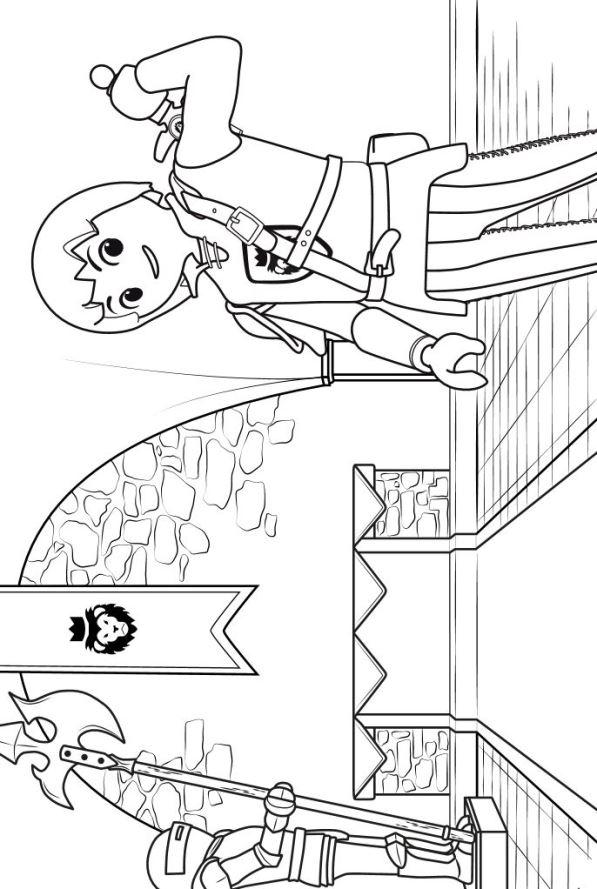 Kids N Fun Com 8 Coloring Pages Of Playmobil Super 4