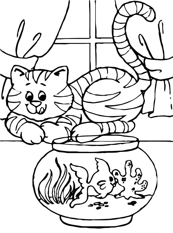 cats and dogs coloring pages - photo#27