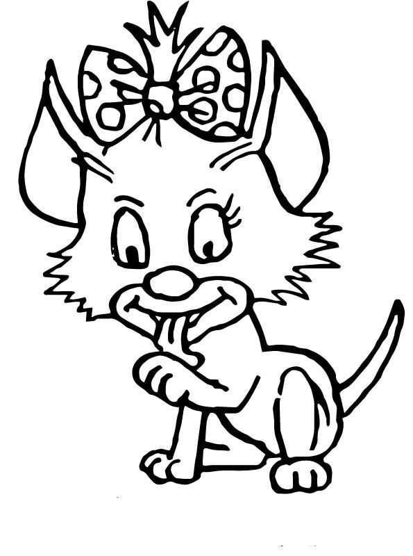 Kids-n-fun.com | 68 coloring pages of Cats and dogs