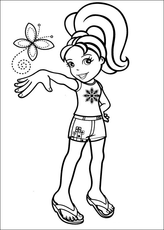 Kidsnfuncom  47 coloring pages of Polly Pocket