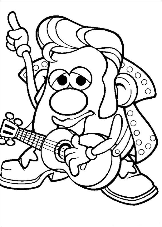 Kids-n-fun.com   57 coloring pages of Mr. Potato Head