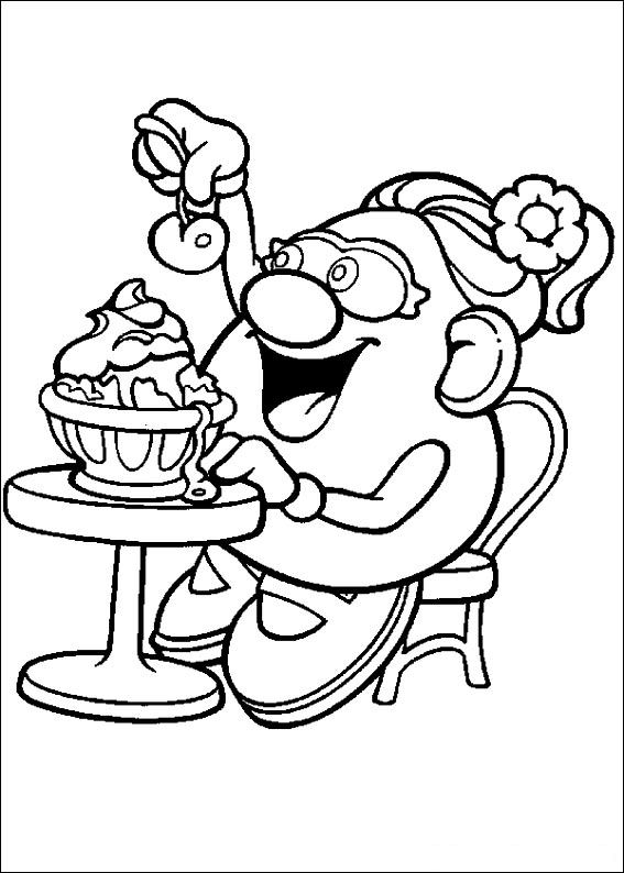 mrs potato head coloring pages - photo#24
