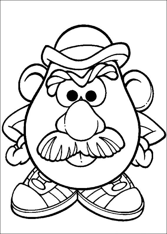mrs potato head coloring pages - photo#20