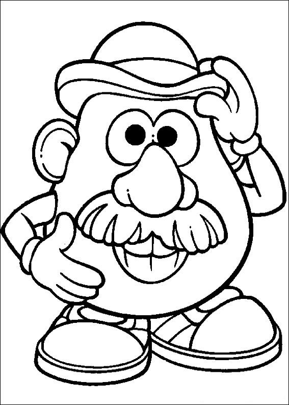 Mr Potato Head Coloring Page Best Kidsnfun  57 Coloring Pages Of Mrpotato Head Review