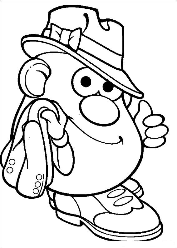 mrs potato head coloring pages - photo#11