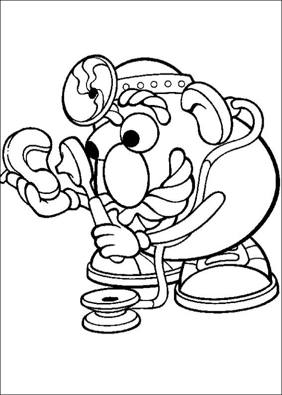 mrs potato head coloring pages - photo#13