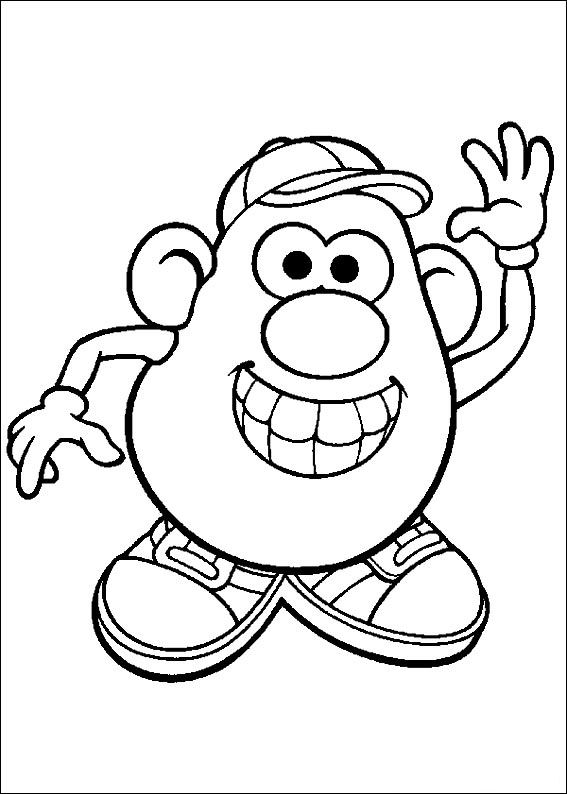 Mr Potato Head Coloring Page Adorable Kidsnfun  57 Coloring Pages Of Mrpotato Head Inspiration