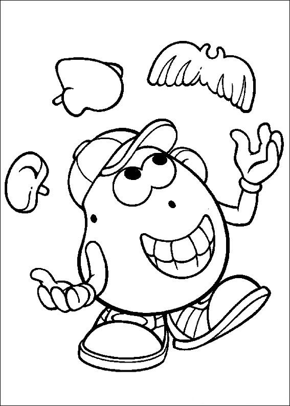 Kids n coloring page mr potato head mr potato head - Mr patate dessin ...