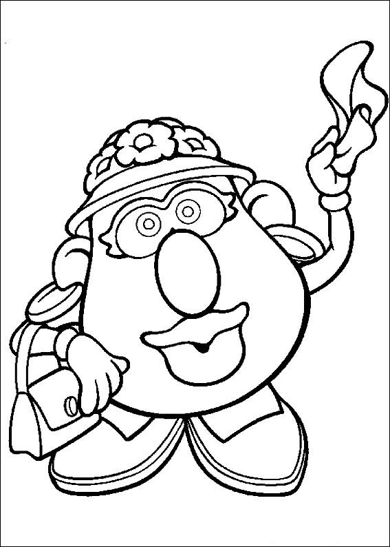 mrs potato head coloring pages - photo#12