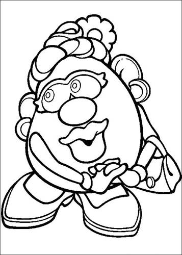 Kids N Fun Com 57 Coloring Pages Of Mr Potato Head