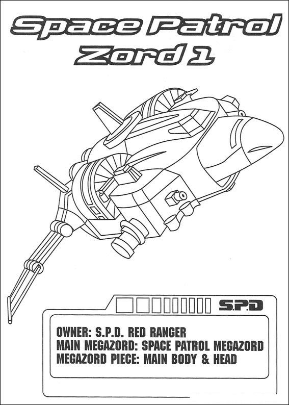power rangers - Power Rangers Dino Coloring Pages