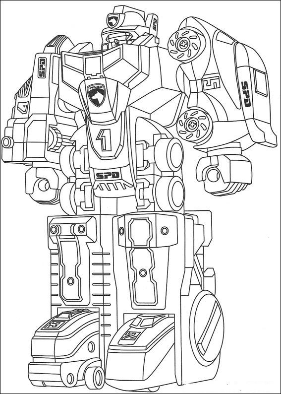 Kids n funcom 111 coloring pages of Power Rangers