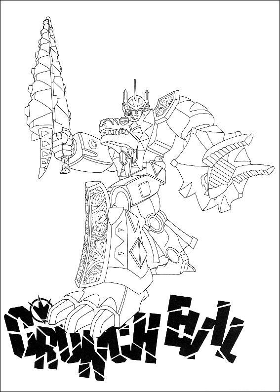power rangers coloring pages 7 - Power Rangers Dino Coloring Pages