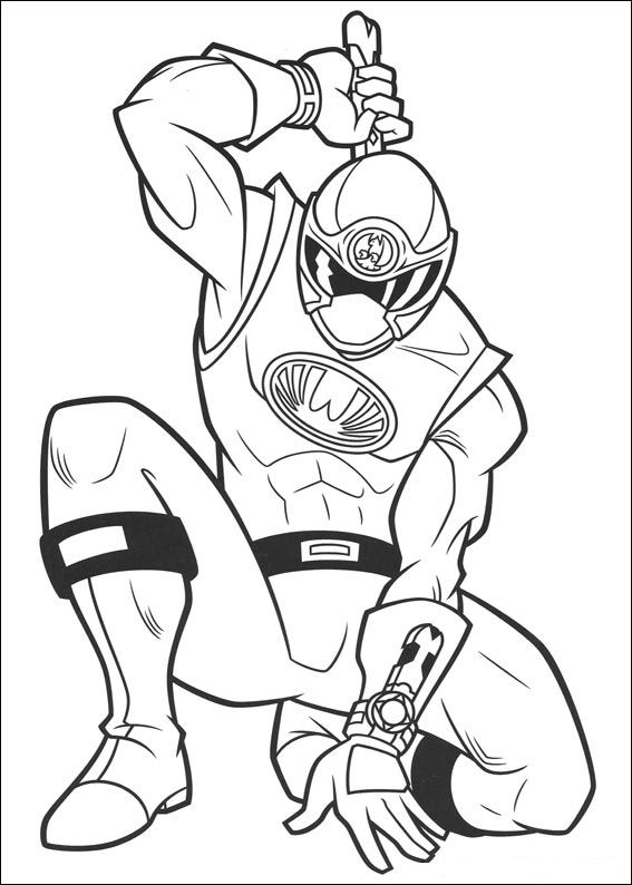 Gold Power Rangers Samurai Coloring Pages