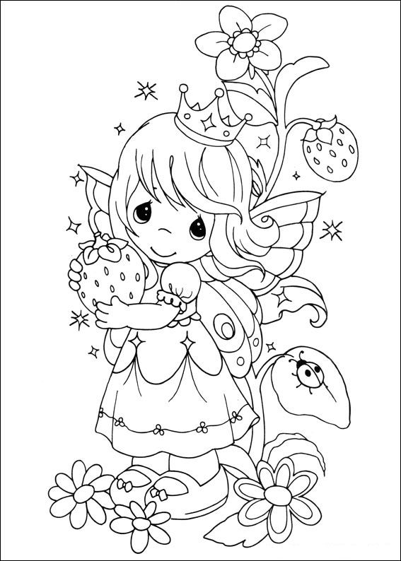 Delightful 42 Precious Moments. Coloring Pages