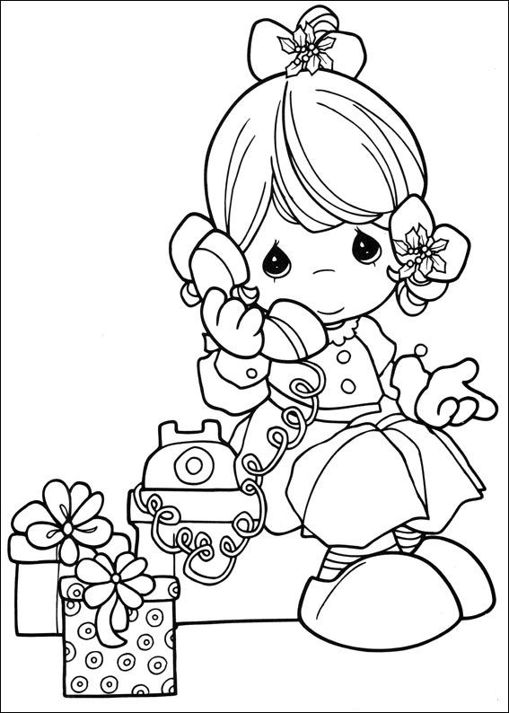 Kids n 42 coloring pages of precious moments for Precious moments coloring page
