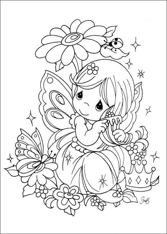 precious moments - Precious Moments Coloring Pages