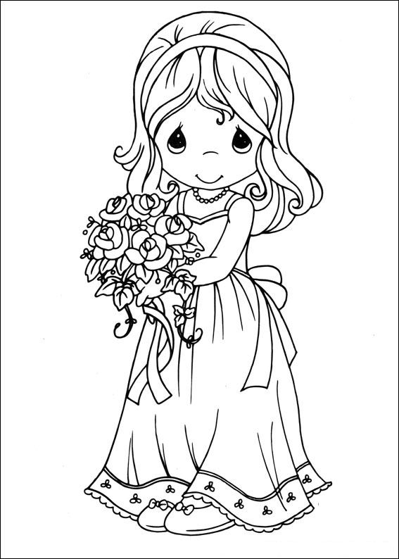 Kidsnfuncom  42 coloring pages of Precious moments