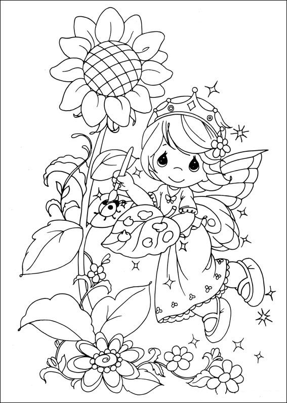 Kids-n-fun.co.uk | 42 coloring pages of Precious moments