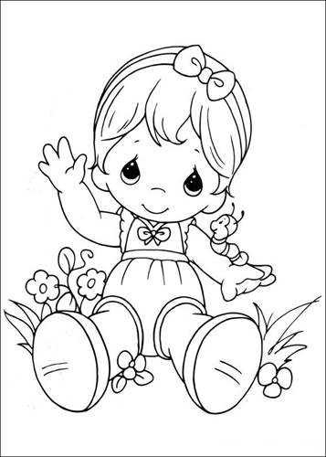 Free Printable Precious Moments Coloring Pages For Kids   500x357