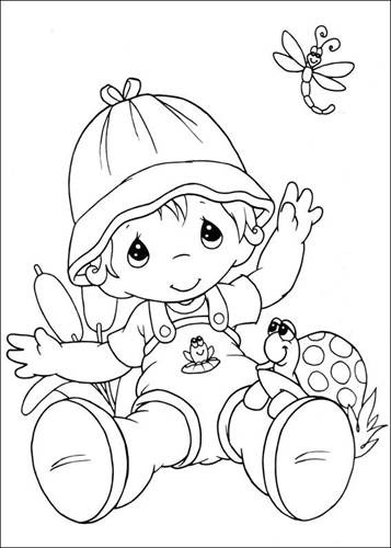 Precious Moments coloring pages on Coloring-Book.info | 500x357
