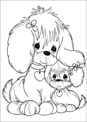 Free Printable Precious Moments Coloring Pages For Kids | 500x357