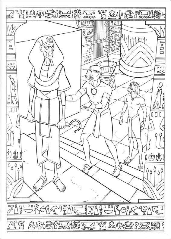 Kids n funcom 31 coloring pages of Prince of Egypt