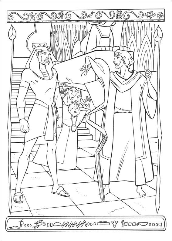 Kidsnfun 31 coloring pages of Prince of Egypt