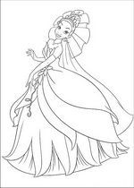 coloring page Princess and the Frog