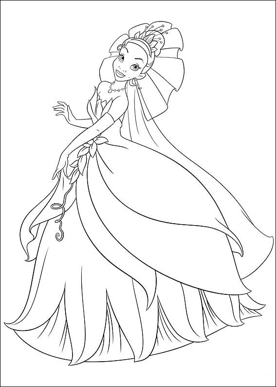 37 princess and the frog coloring pages