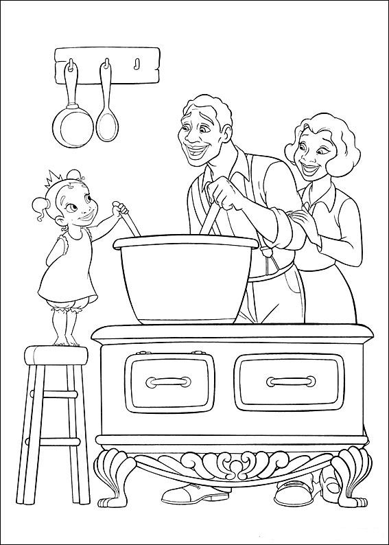 kids n funcom 37 coloring pages of princess and the frog