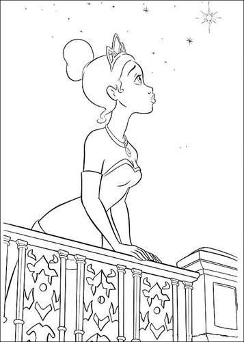 Kids N Fun Com 37 Coloring Pages Of Princess And The Frog