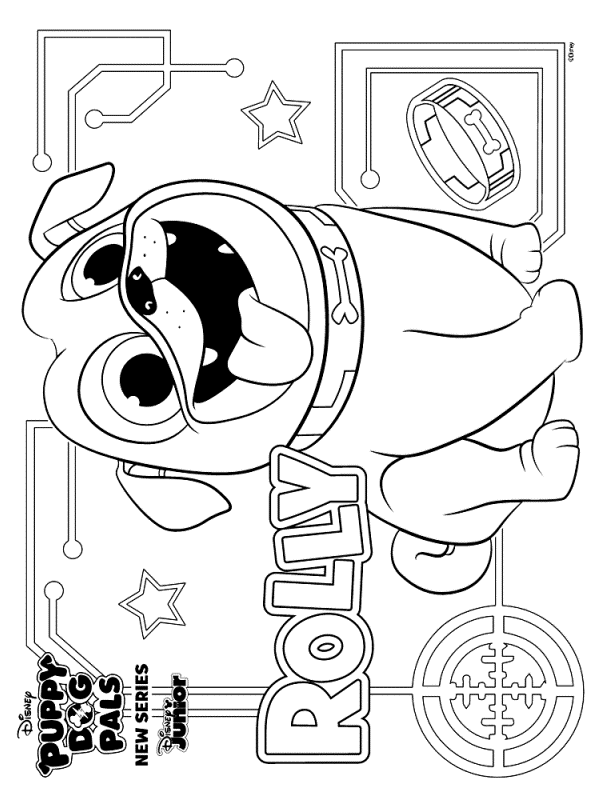 Kids-n-fun.com | Create personal coloring page of puppy ...