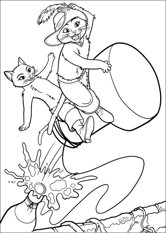 shrek puss in boots coloring pages | Kids-n-fun.com | 23 coloring pages of Puss in Boots
