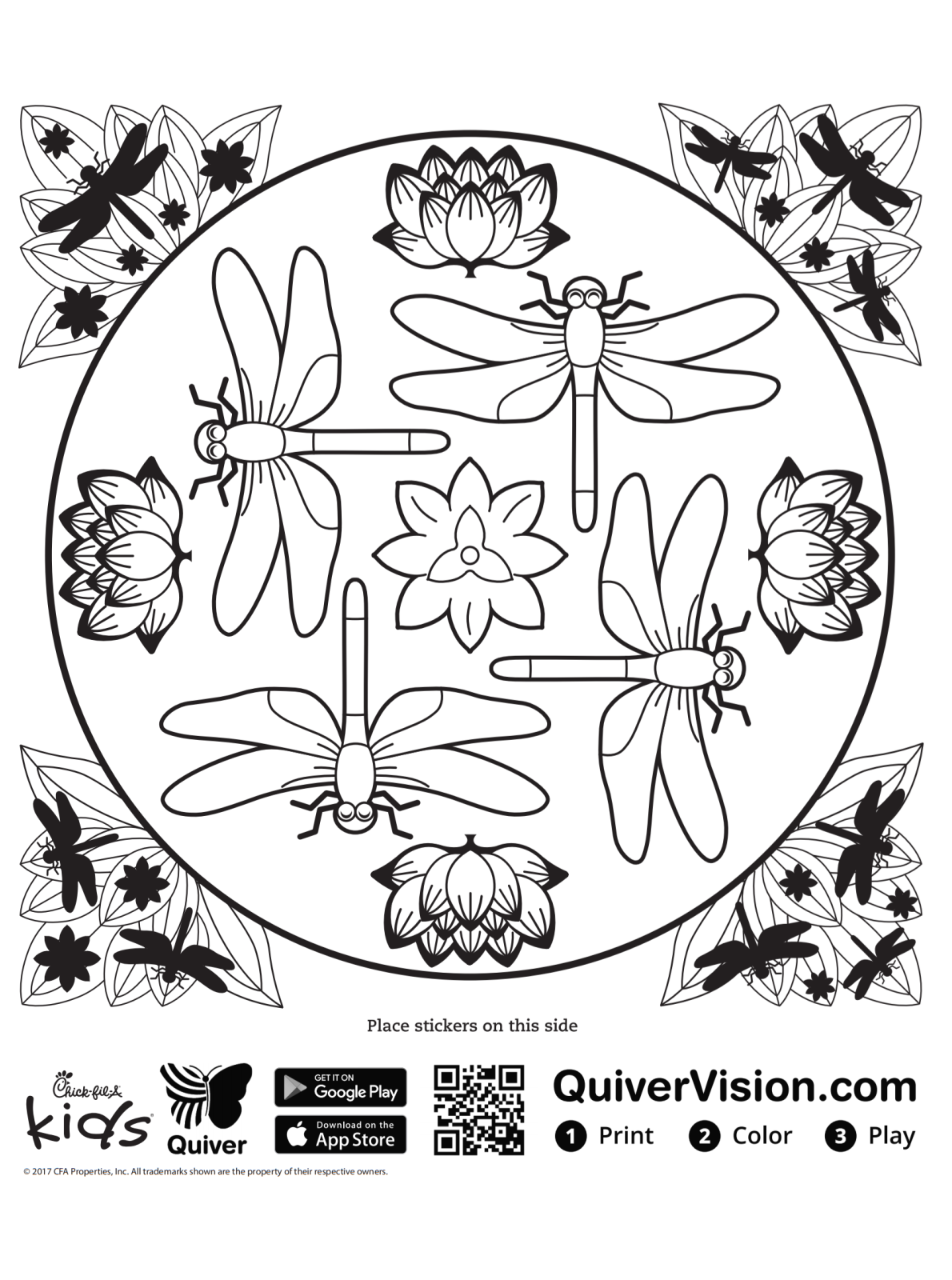 Kids n fun.com   Coloring page Quiver dragonfly