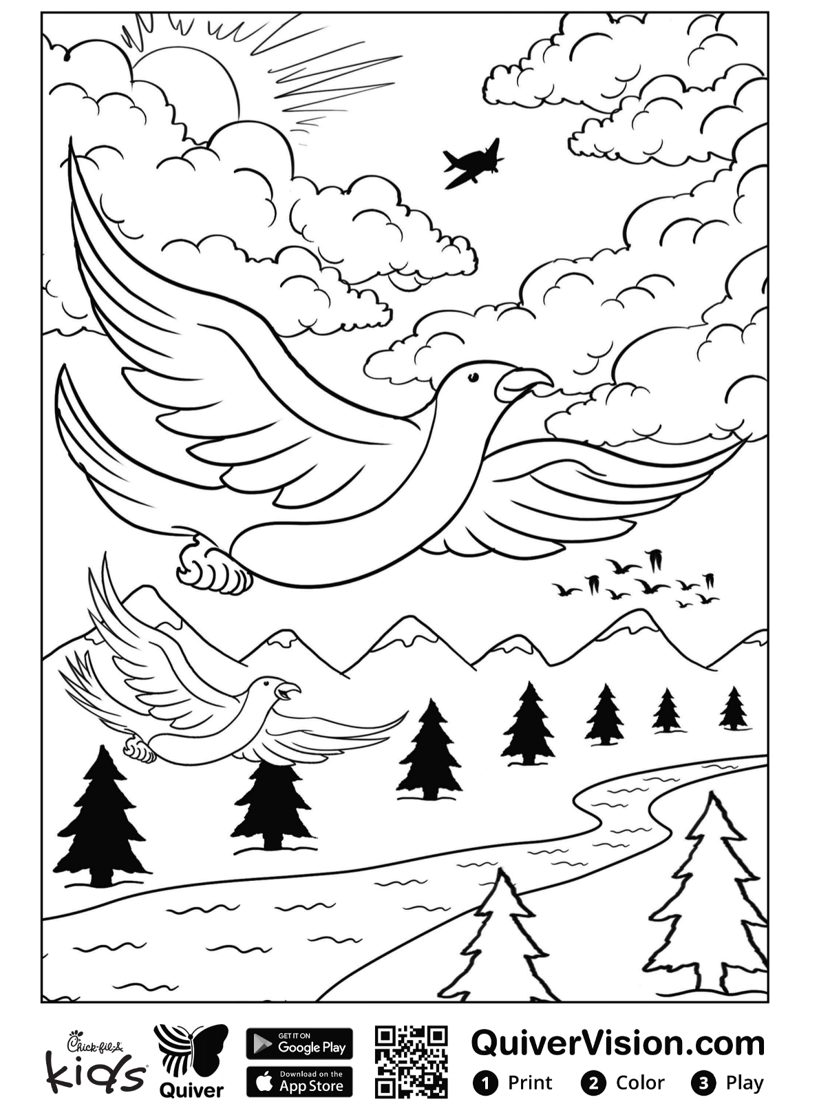 Kids-n-fun.com   Coloring page Quiver seagulls