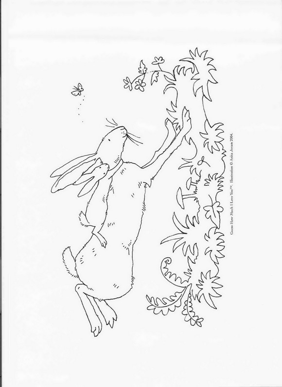Kleurplaten Van Love You.Kids N Fun Co Uk Coloring Page Guess How Much I Love You Guess How