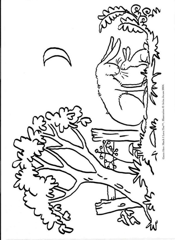 guess how much i love you - I Love You Coloring Pages