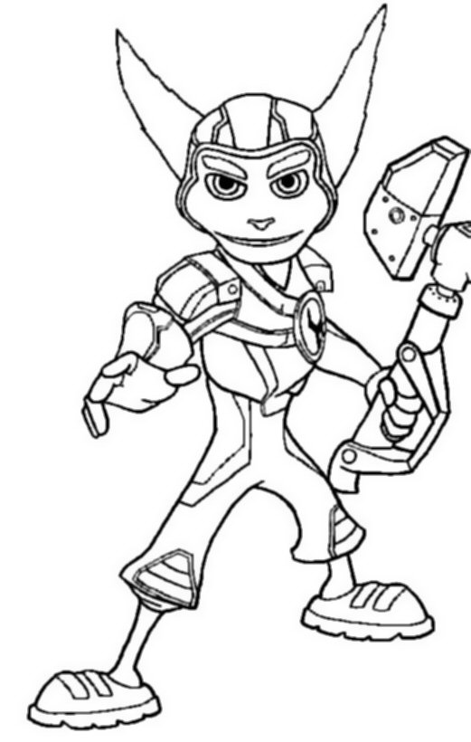 Kids N Fun Com 6 Coloring Pages Of Ratchet And Clank Ratchet And Clank Coloring Pages
