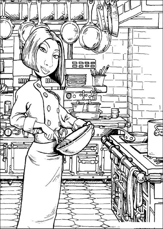 coloring pages ratatouille - photo#35
