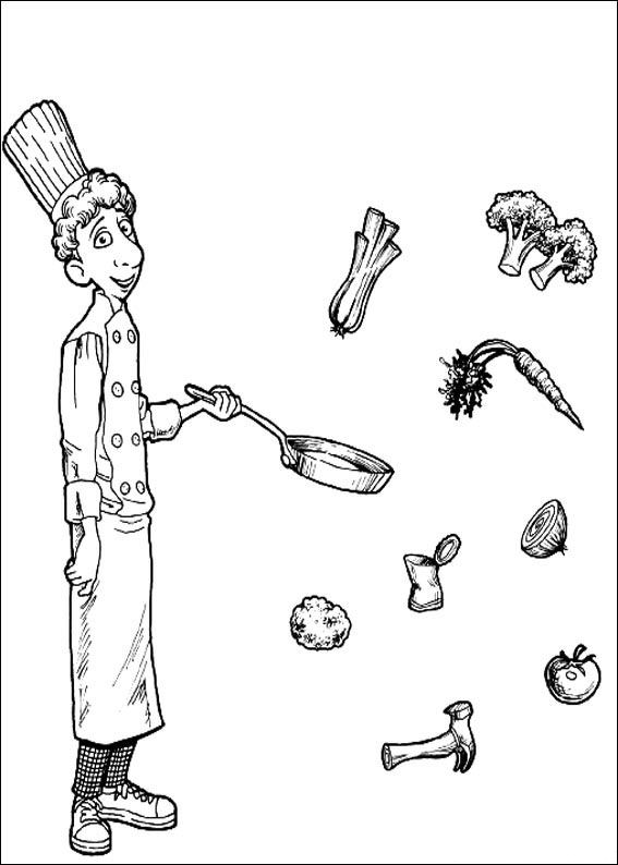 coloring pages ratatouille - photo#33