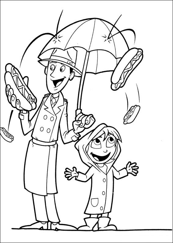 and more of these coloring pages coloring pages of cloudy with a change of meatballs 2