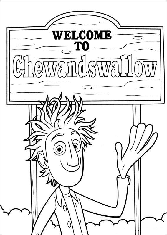 32 cloudy with a chance of meatballs coloring pages