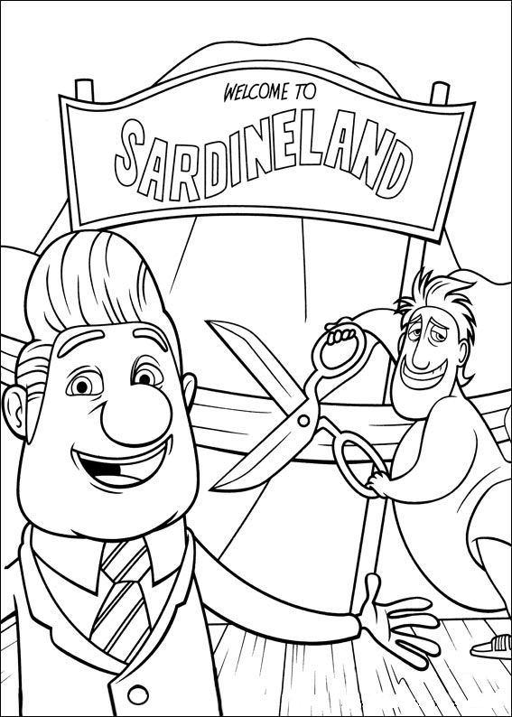 Kidsnfun 32 coloring pages of Cloudy with a Chance