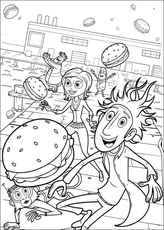 cloudy coloring pages - photo#18