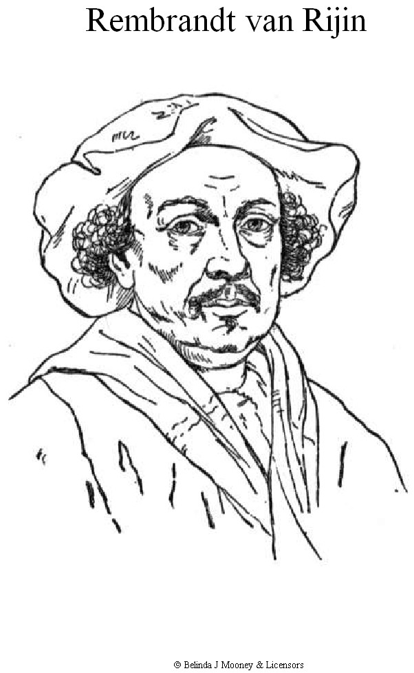 n 2 coloring pages of rembrandt rijn