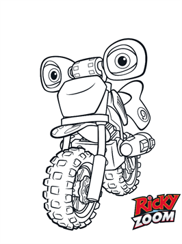 Kids-n-fun.com | 11 coloring pages of Ricky Zoom