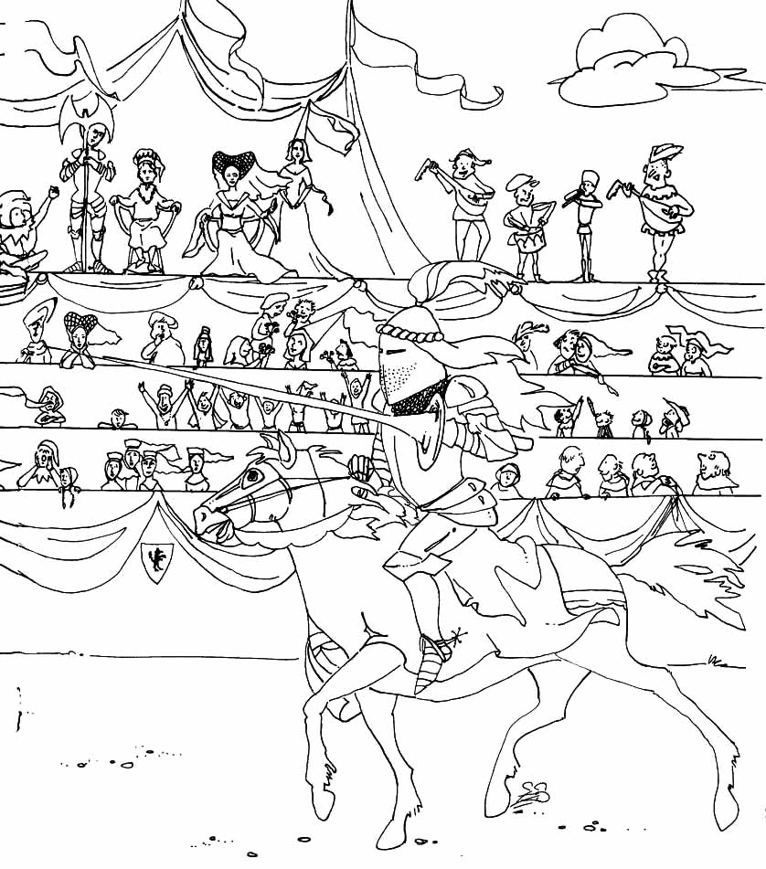 kids n fun com 56 coloring pages of knights