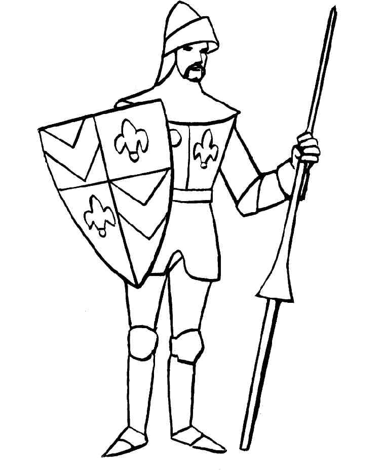 knight coloring pages for kids - photo#18