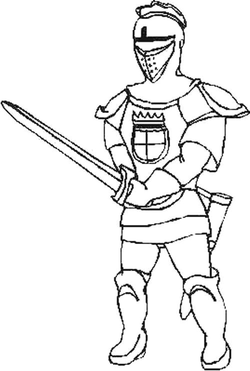 Kids n funcom 56 coloring pages of Knights